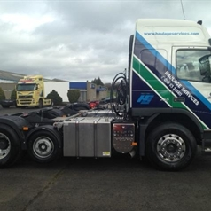 Alcoa Wheels on Woodside Haulage Services Lorry | Modern Tyres